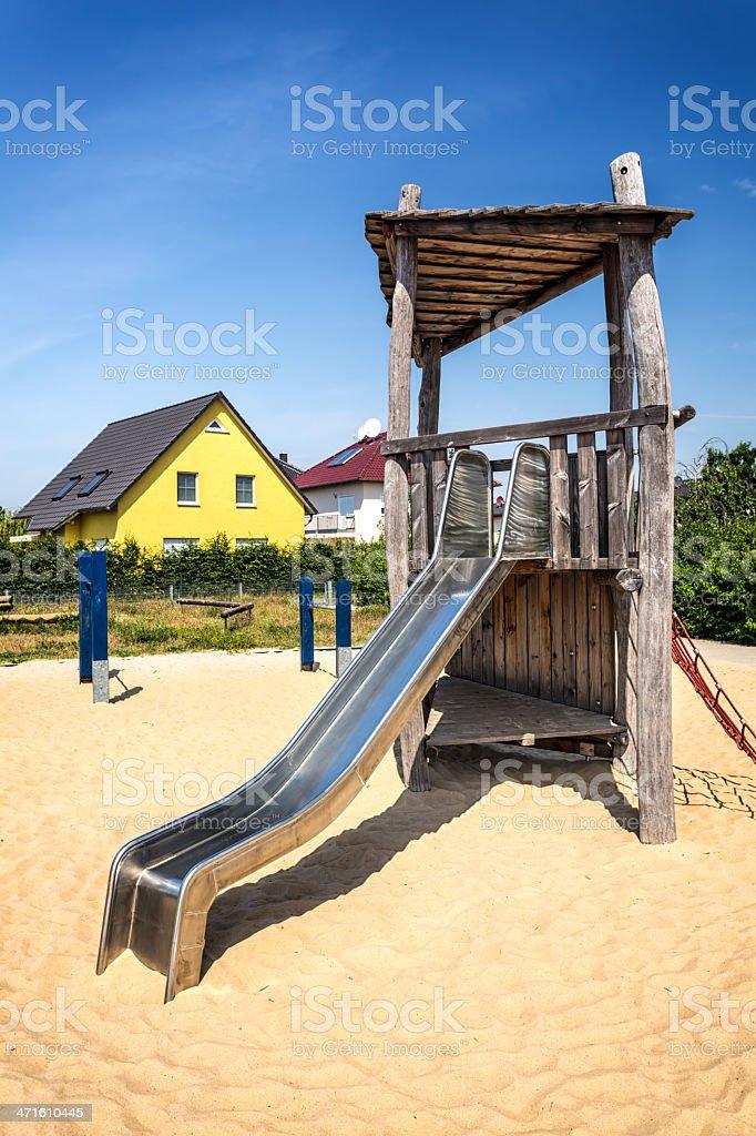 Slide on playground royalty-free stock photo