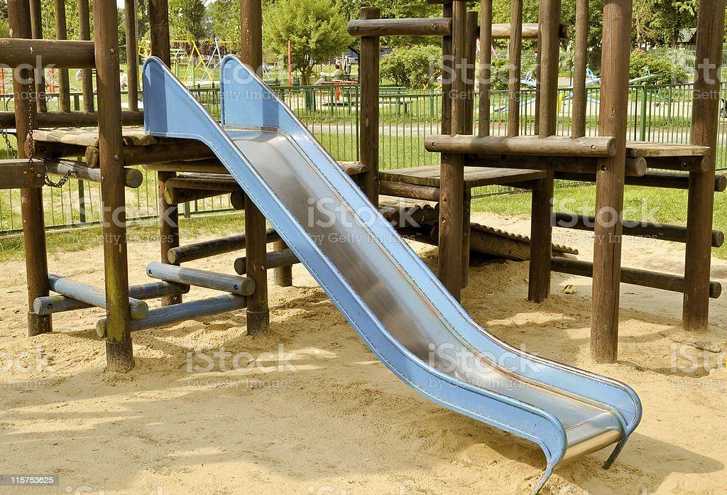 Folie auf dem Spielplatz Lizenzfreies stock-foto