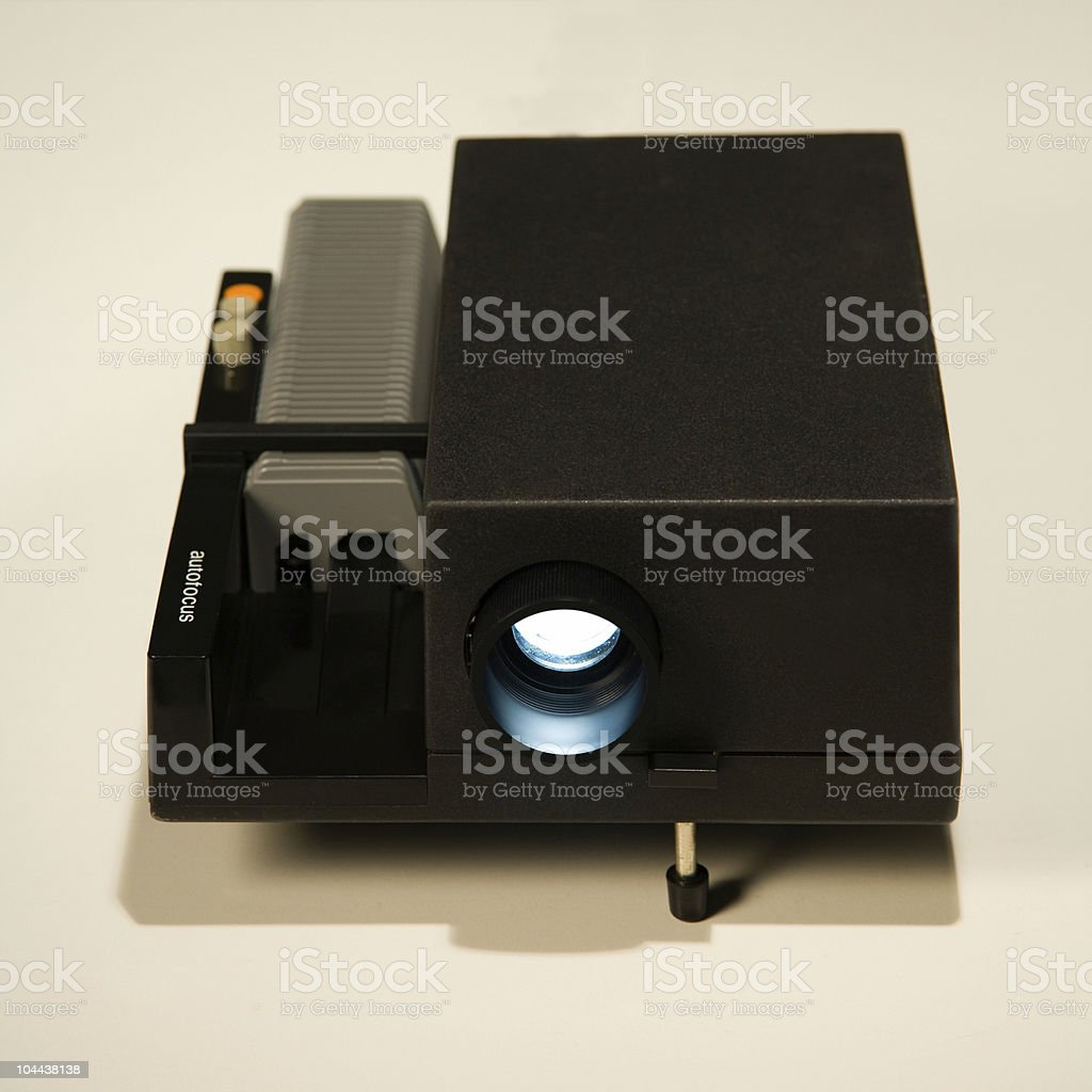Slide Projector stock photo