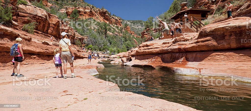 Slide Rock State Park stock photo