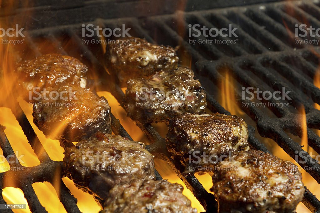 Sliders on Grill royalty-free stock photo