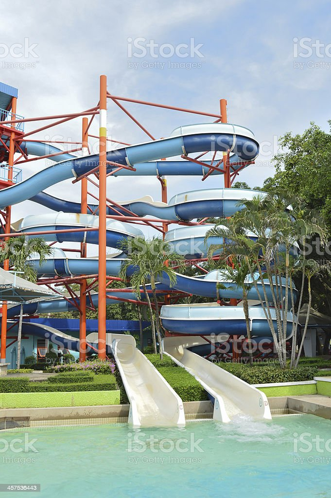 sliders, water park. royalty-free stock photo
