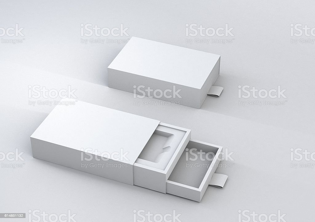 sliding box pack stock photo