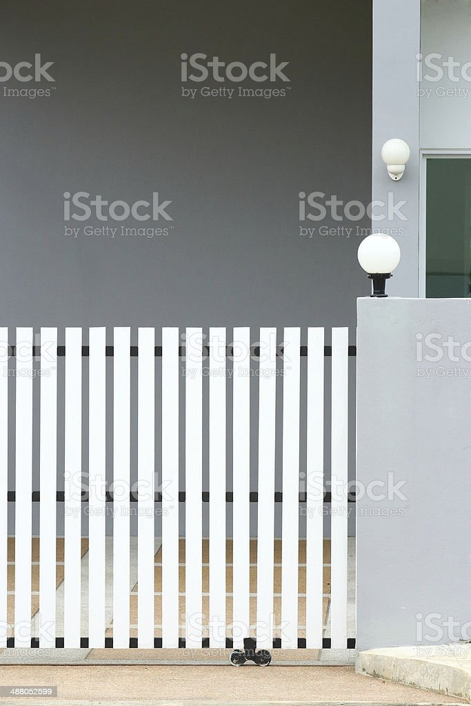 sliding door at modern home royalty-free stock photo