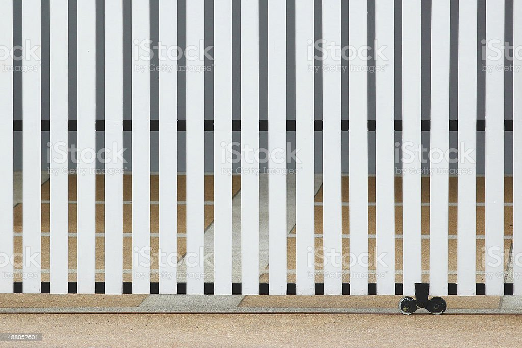 sliding door made of white wood royalty-free stock photo