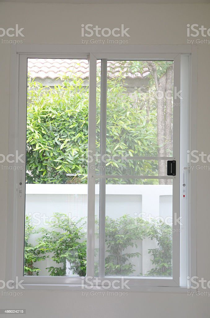 Sliding door stock photo