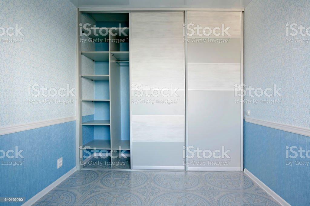 Sliding door wardrobe stock photo