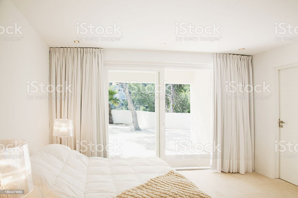Sliding doors of modern bedroom royalty-free stock photo