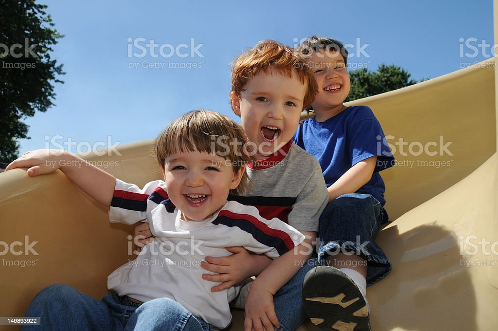 Sliding fun stock photo