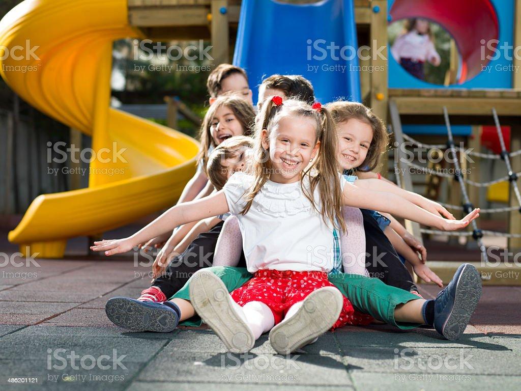 Sliding stock photo