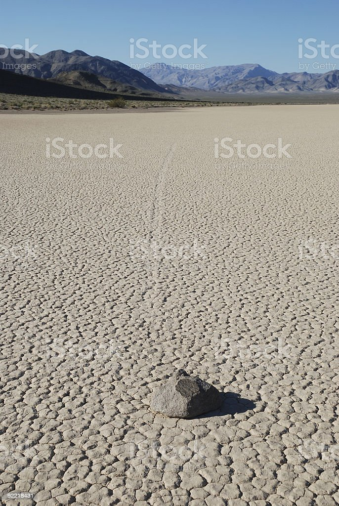 Sliding Rock at Death Valley royalty-free stock photo