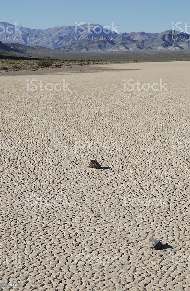 Sliding Rocks at Death Valley royalty-free stock photo