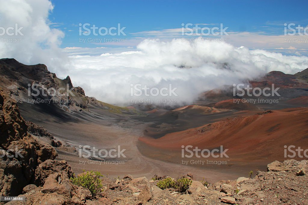 Sliding Sands Trail at Haleakale National Part, Hawaii stock photo
