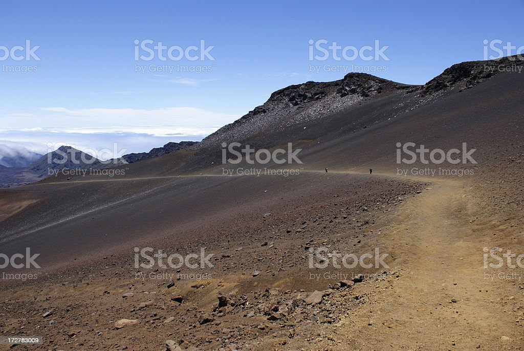 Sliding Sands Trail in Haleakala National Park on Maui royalty-free stock photo
