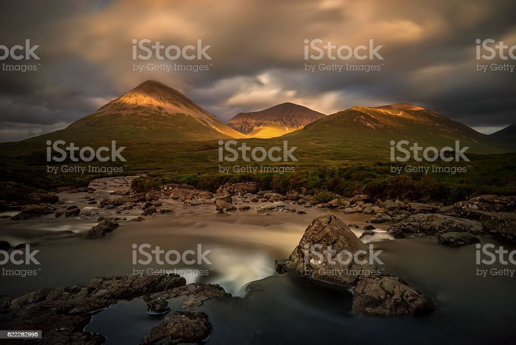 Sligachan River stock photo