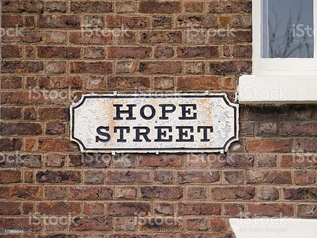 Slightly more Hope Street royalty-free stock photo