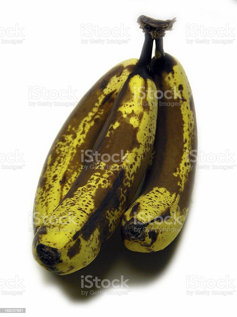 Slightly Spoiled Bananas royalty-free stock photo