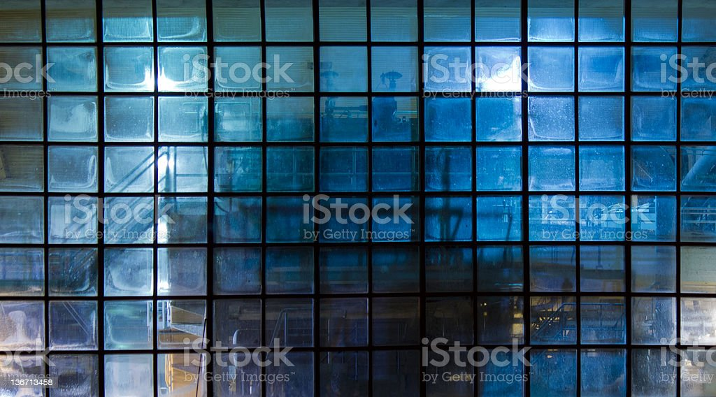 Slightly transparent factory window royalty-free stock photo