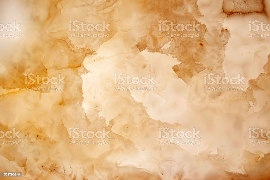 Slighty blurred lightened slices marble stock photo