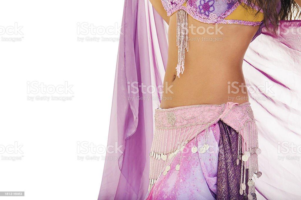 Slim belly dancer royalty-free stock photo