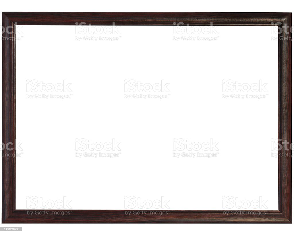 Slim black Wooden Frame stock photo