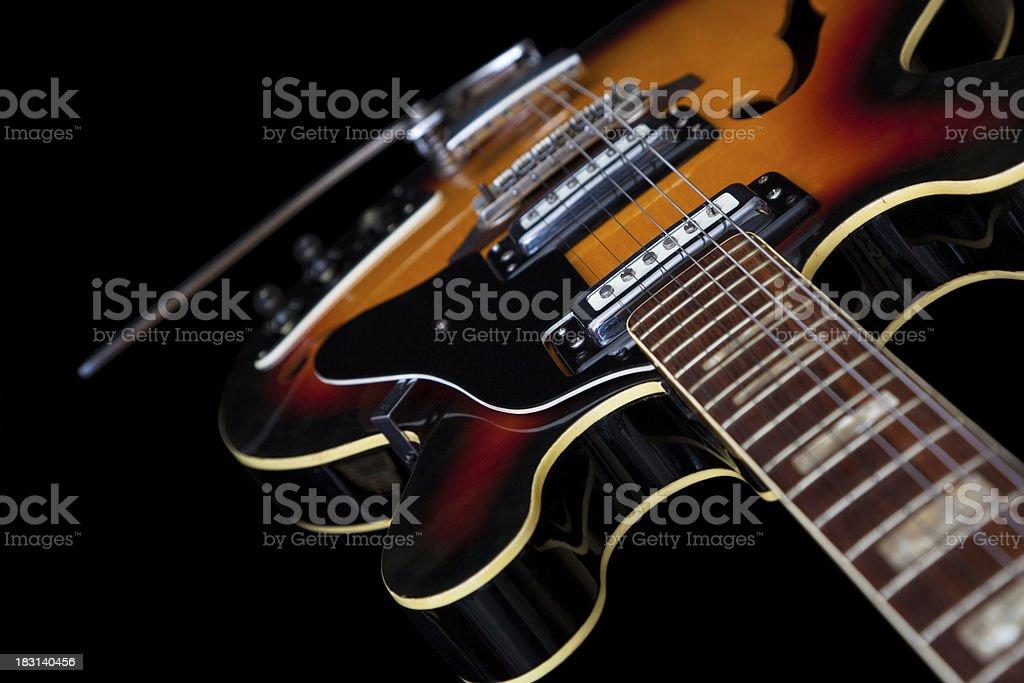 Slim Hollow Body Guitar stock photo