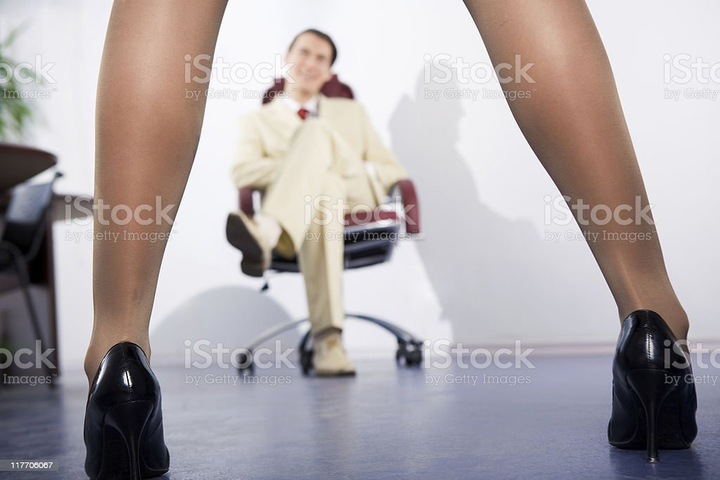 Slim legs royalty-free stock photo