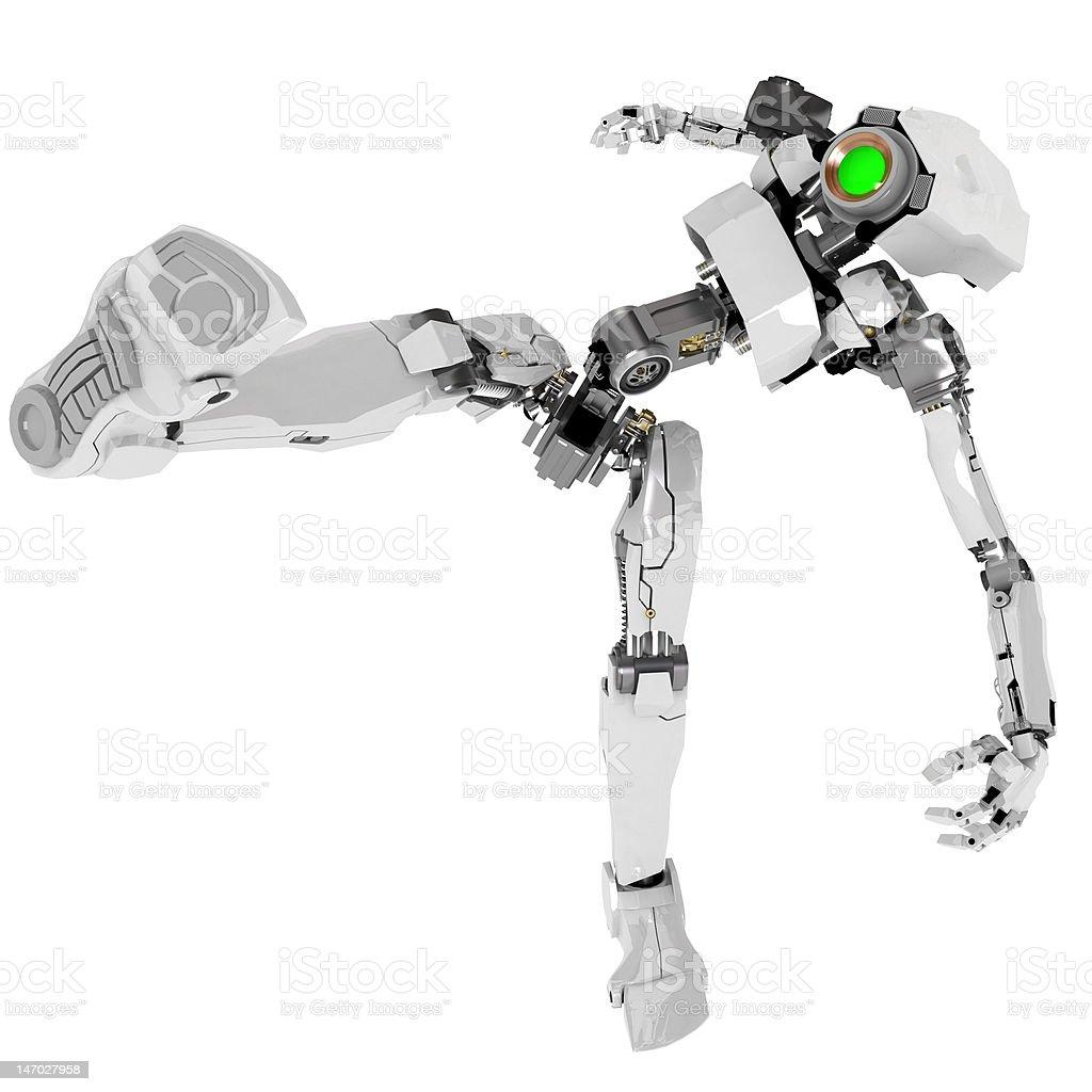 Slim Robot, Kicking royalty-free stock photo