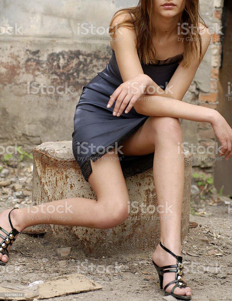 Slim sensuality model posing royalty-free stock photo