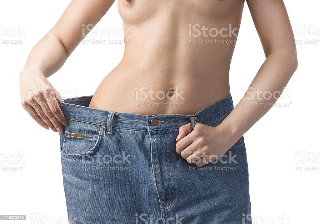 Slim waist. Girl's torso royalty-free stock photo