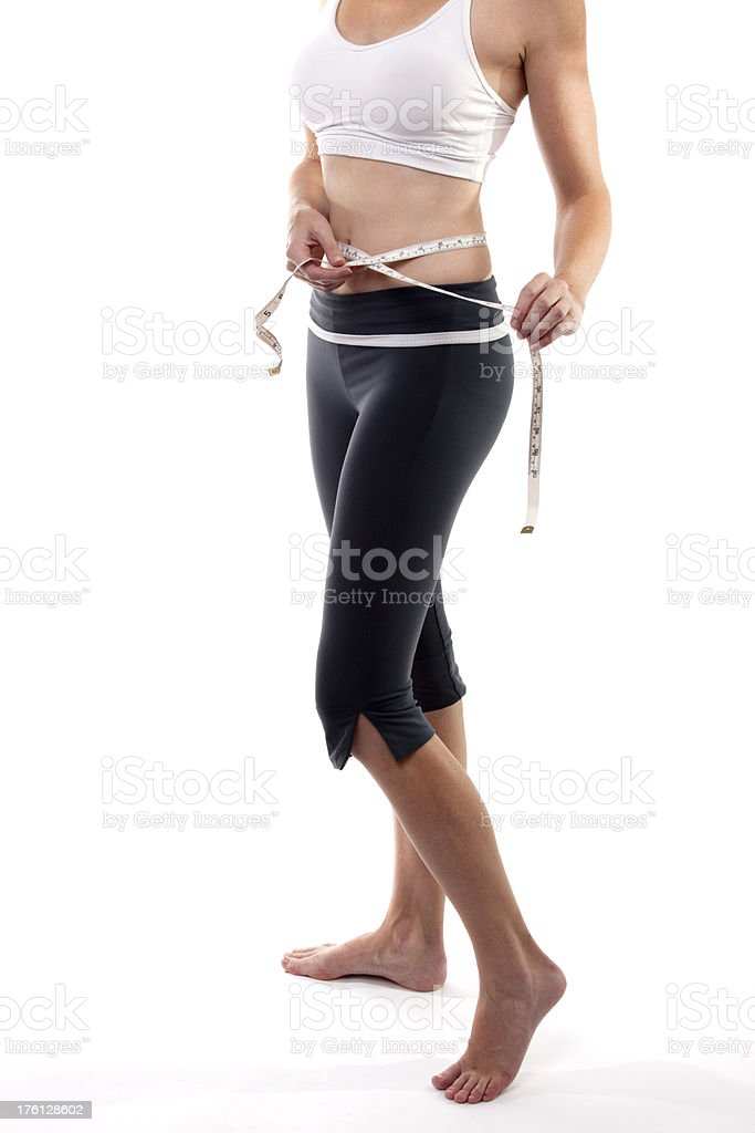 Slim woman royalty-free stock photo