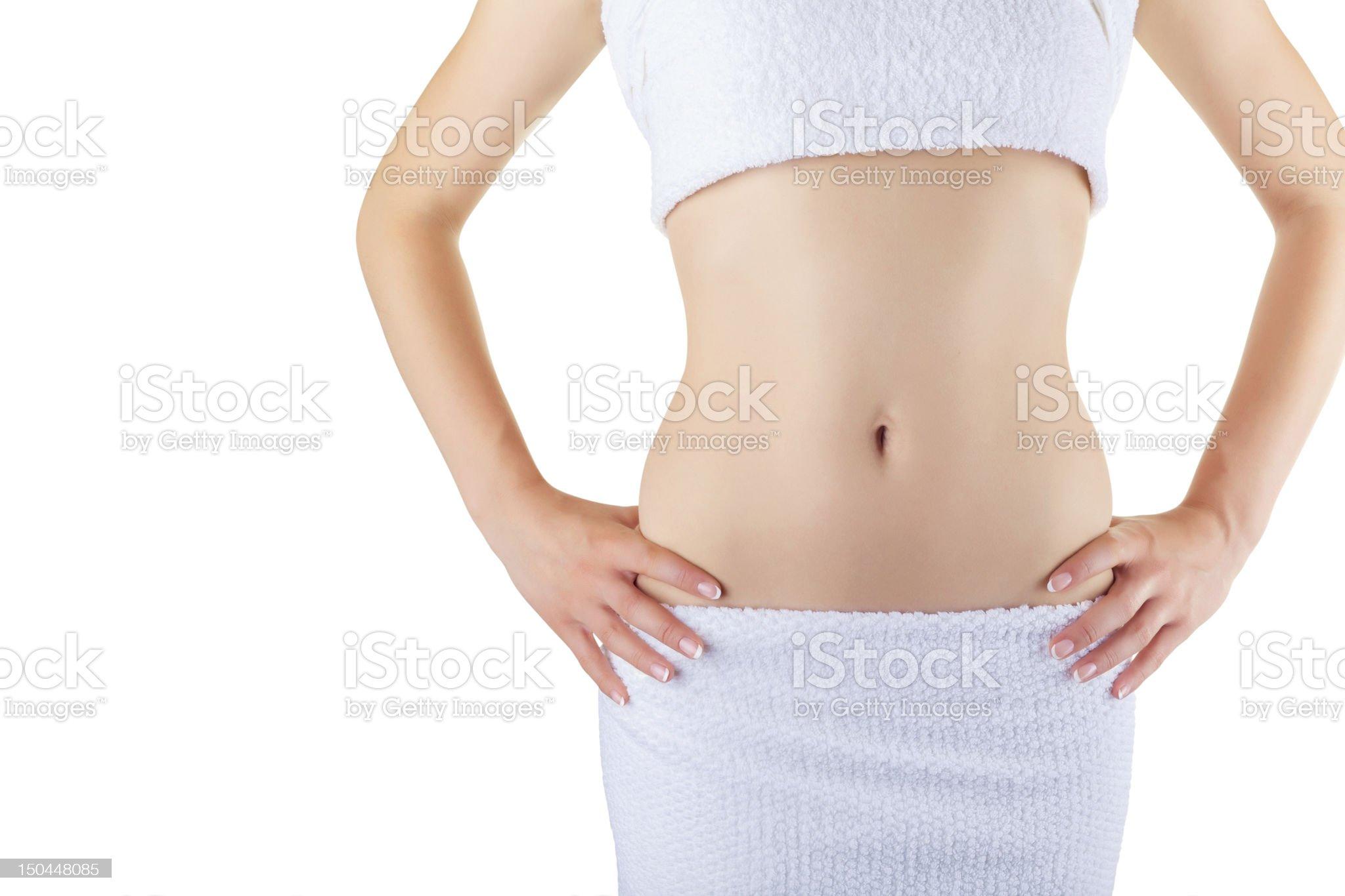 Slim woman's body royalty-free stock photo