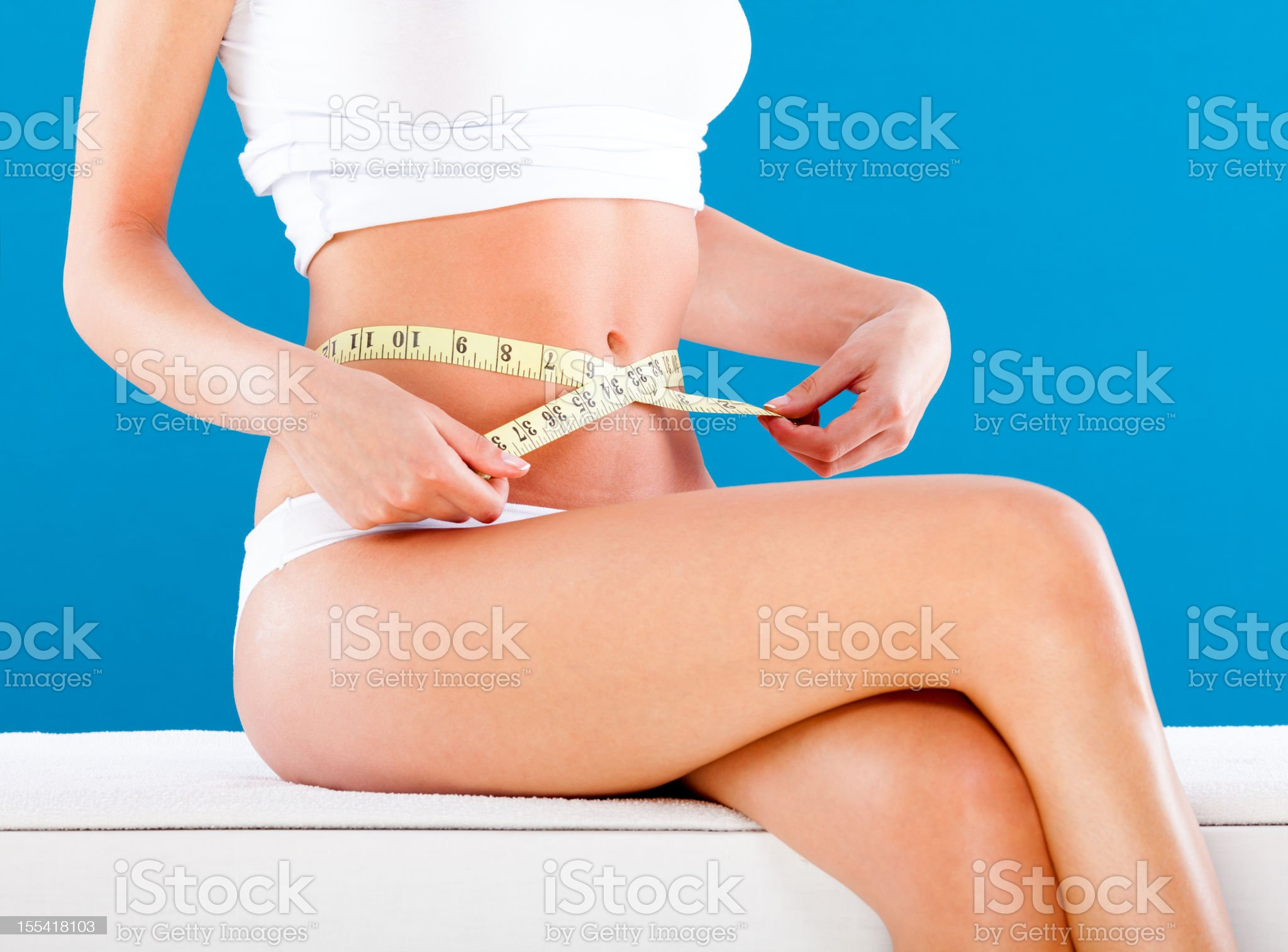 Slimming woman royalty-free stock photo