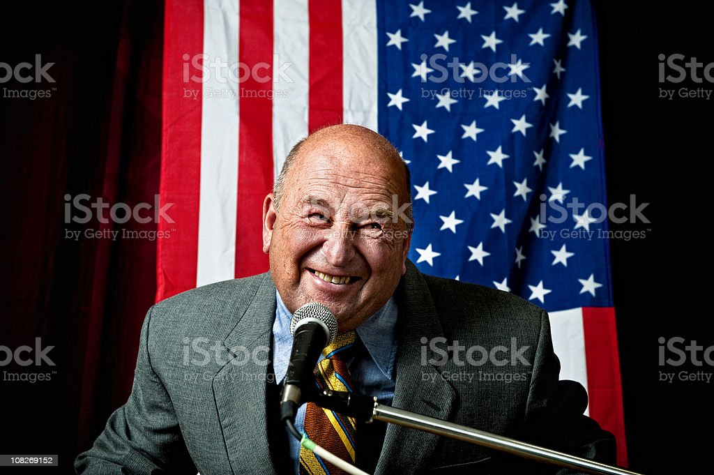 Slimy Politician stock photo