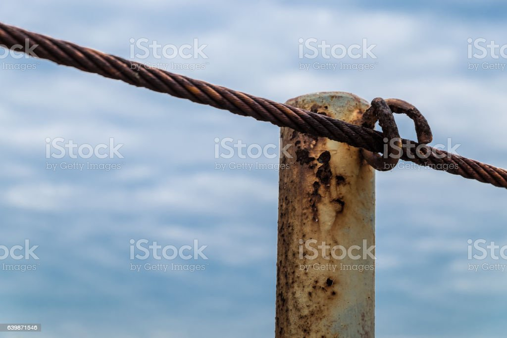 Sling railing stock photo