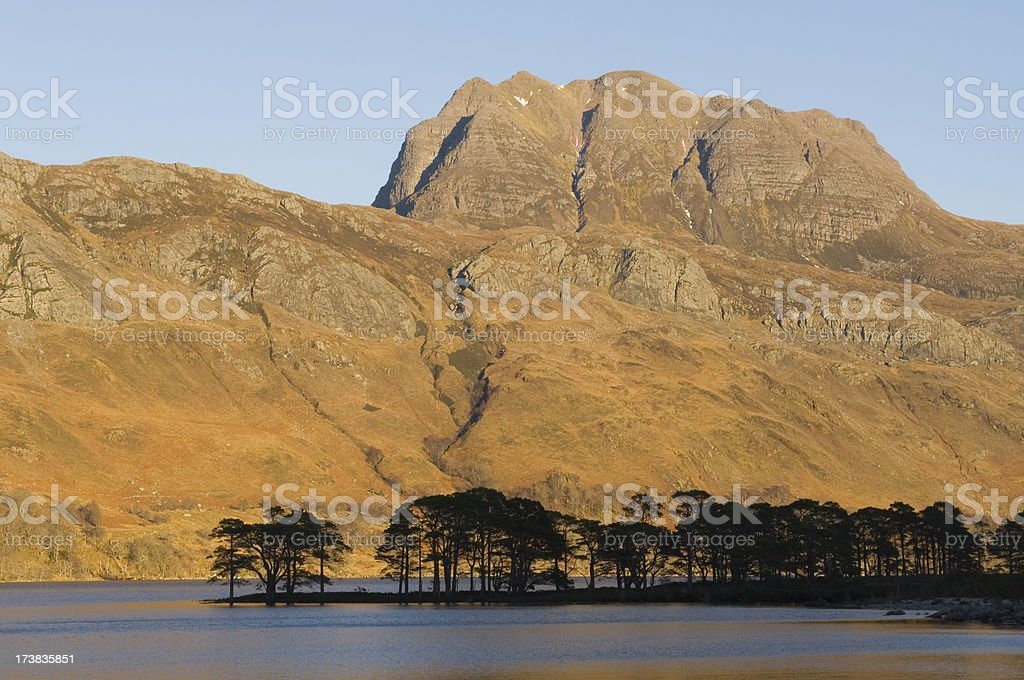 Slioch at sunset stock photo