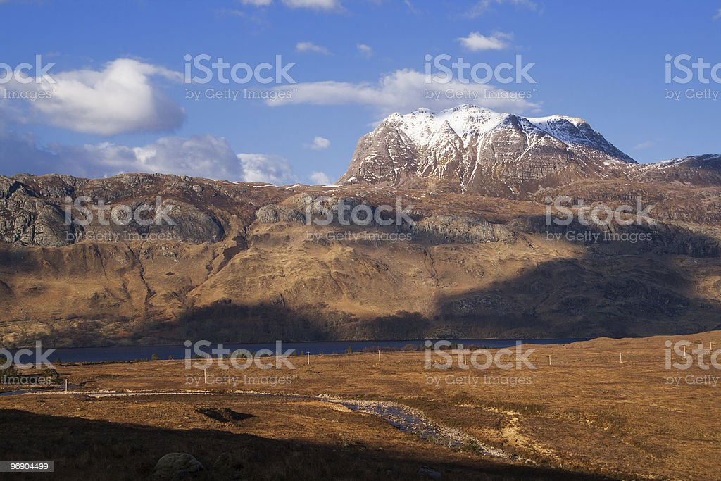 slioch evening stock photo