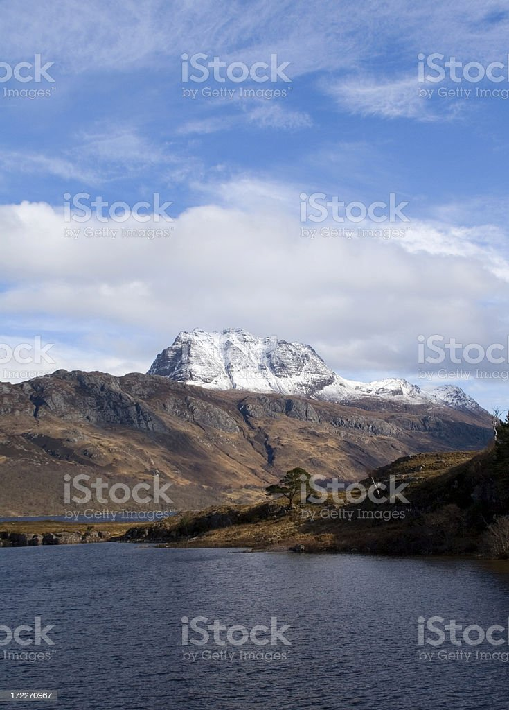 Slioch from Loch Maree stock photo