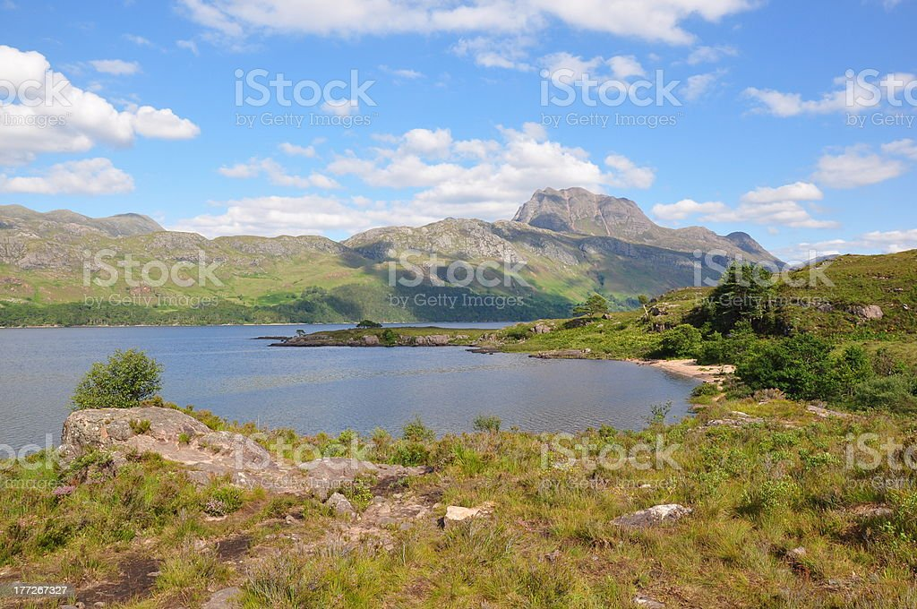 Slioch & Loch Maree, Highlands of Scotland stock photo