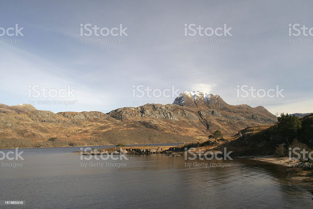 Slioch, Loch Maree, Scottish Highlands stock photo