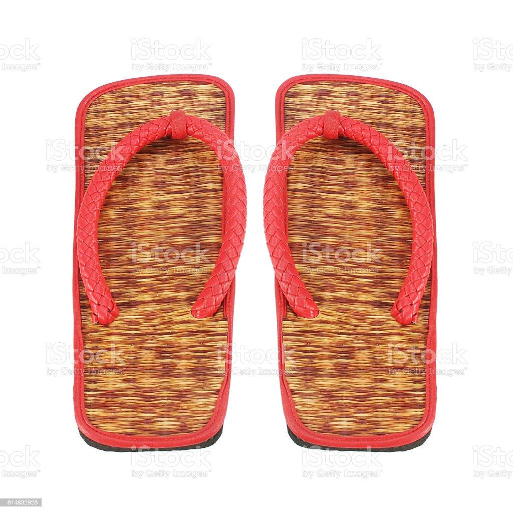 slippers, isolated on white background stock photo