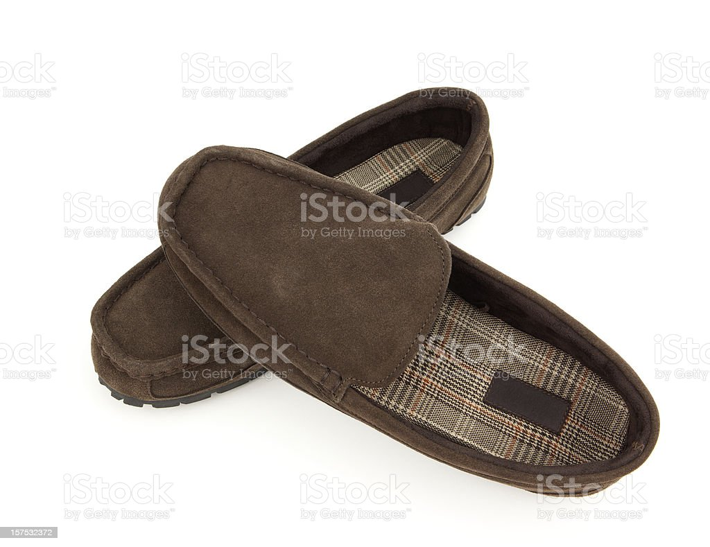 Slippers Isolated on White royalty-free stock photo