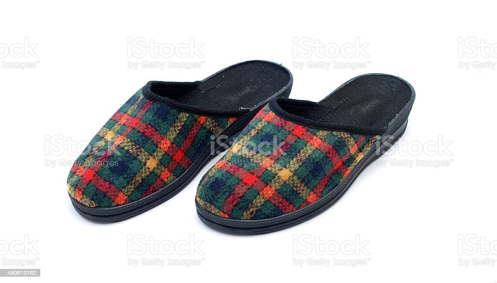 Slippers on a white background stock photo