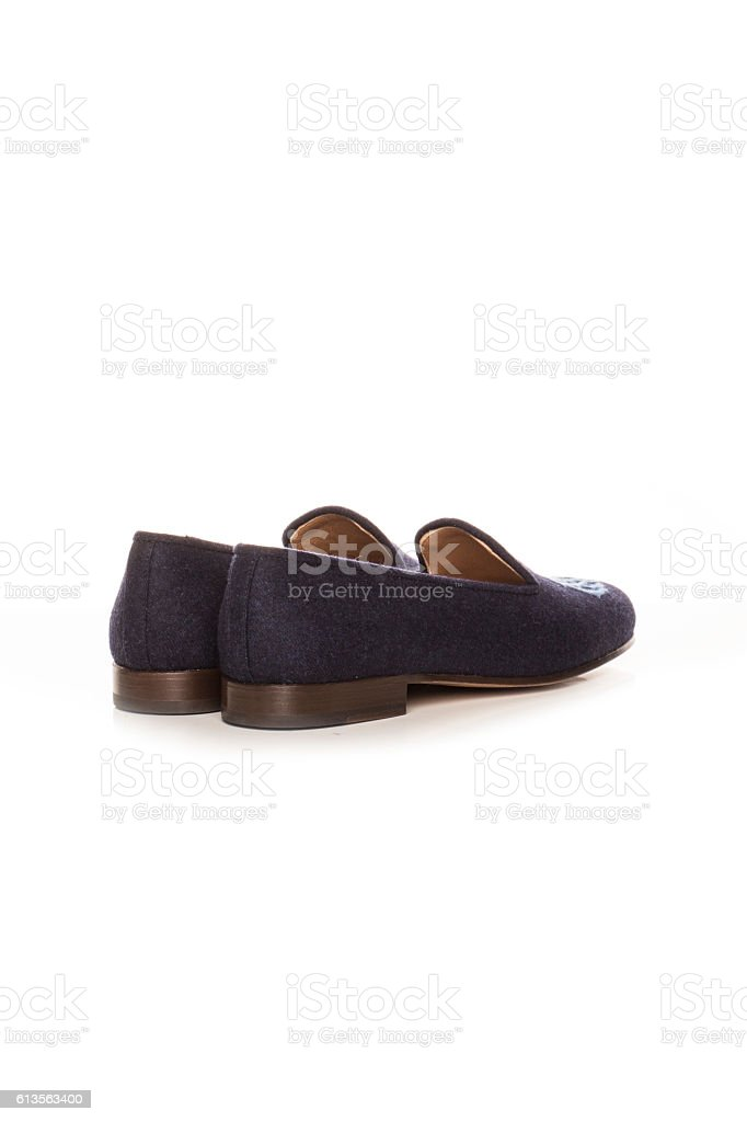 slippers to sleep on a white background stock photo