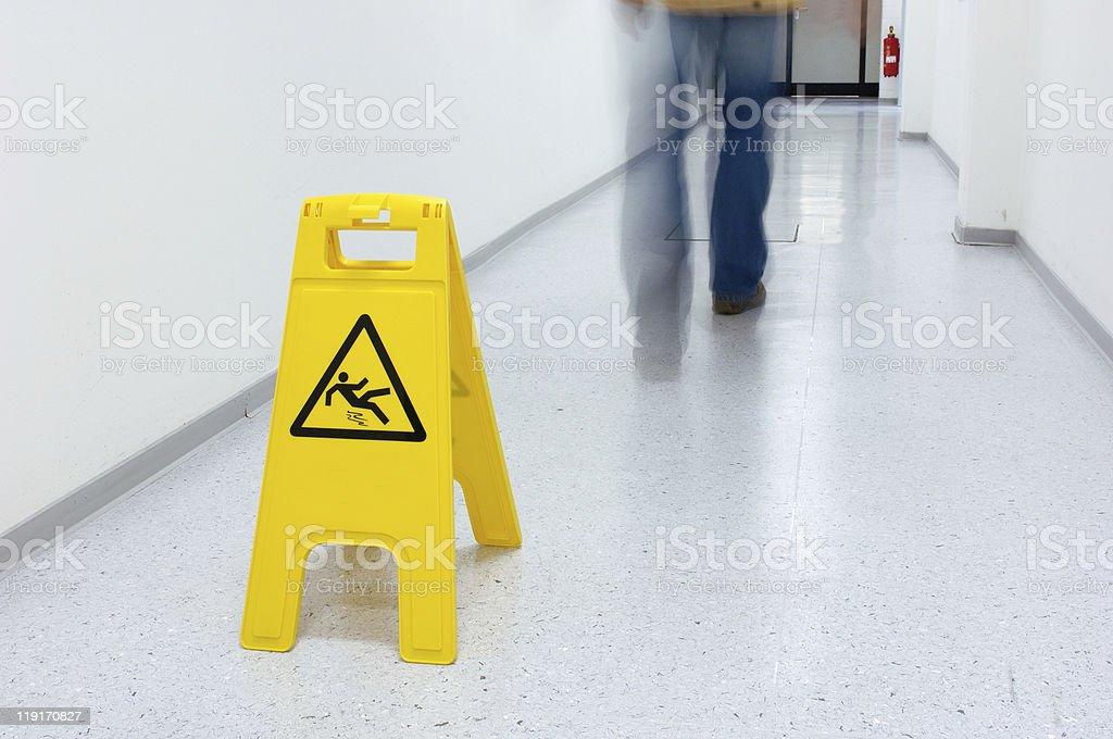 Slippery floor royalty-free stock photo