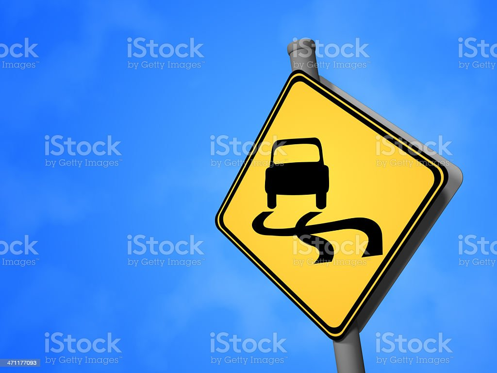 Slippery Road royalty-free stock photo