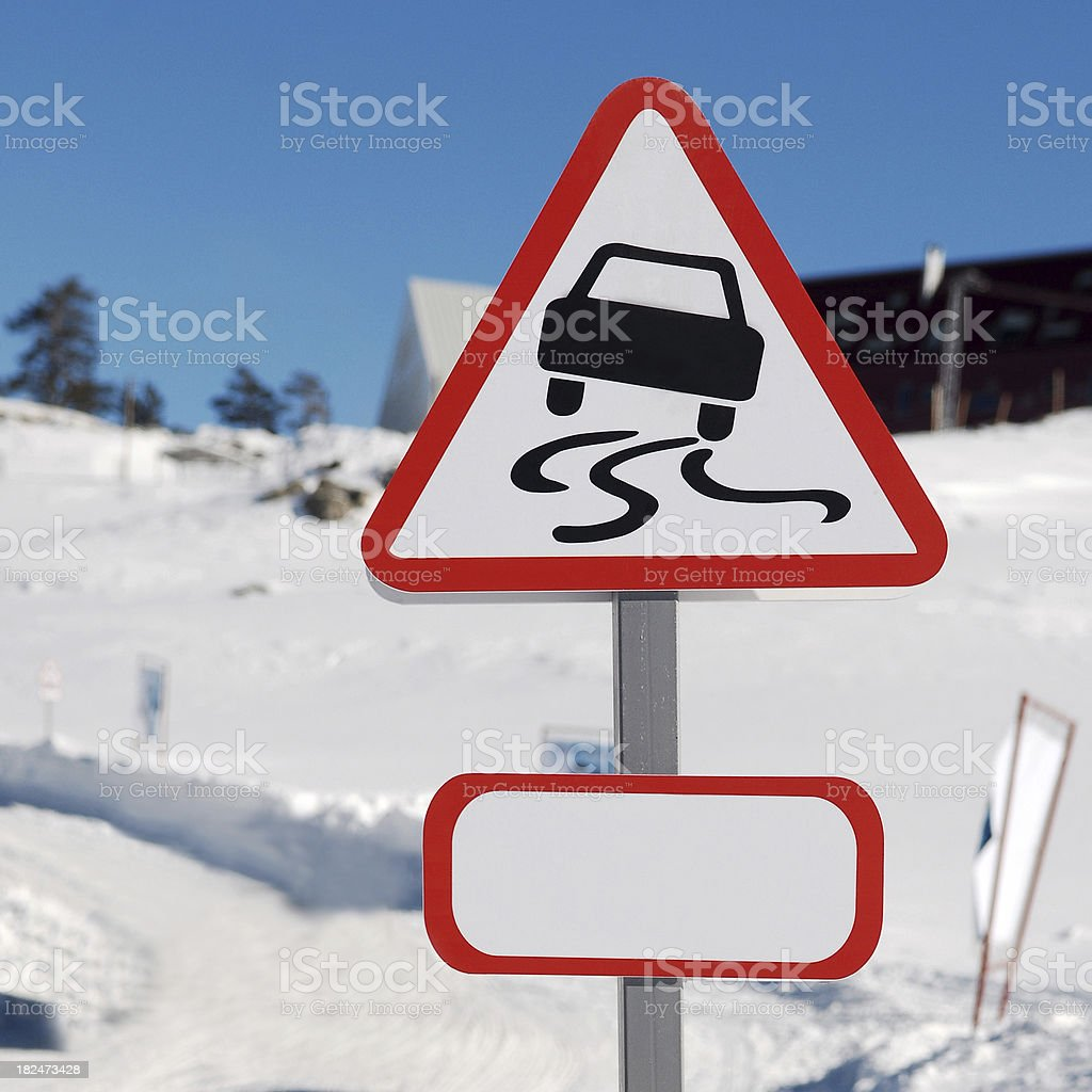 slippery slope stock photo