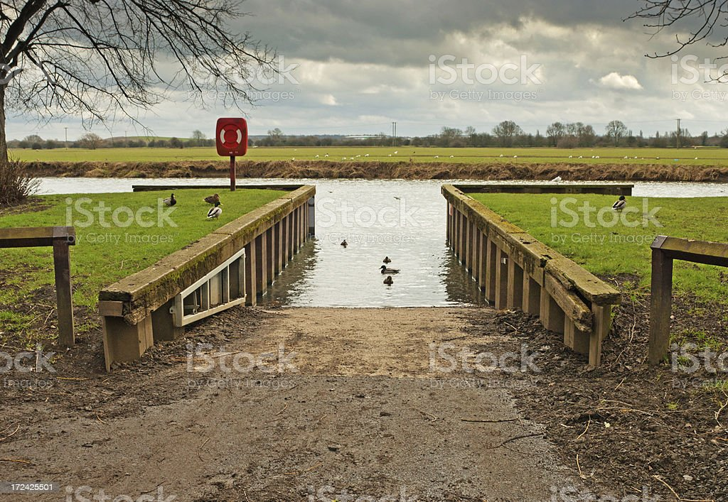 Slipway Huntingdon Cambrideshire royalty-free stock photo