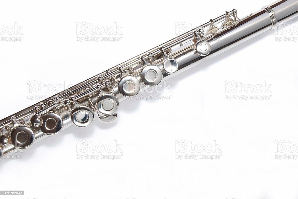 Sliver flute royalty-free stock photo