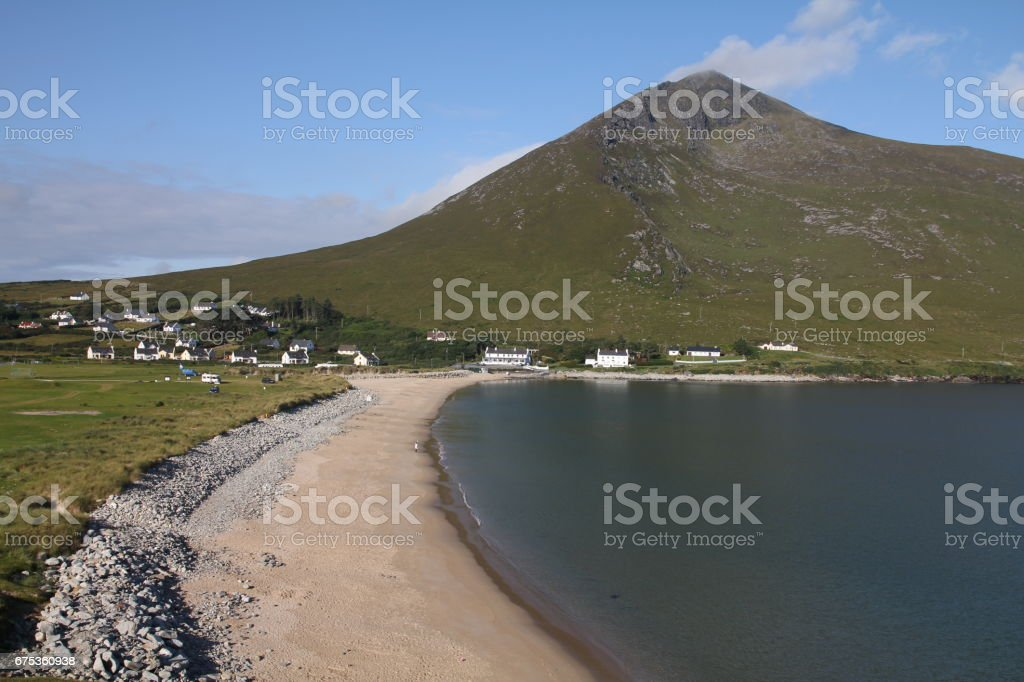Sliver Strand, Dugort, Achill Island, County Mayo stock photo